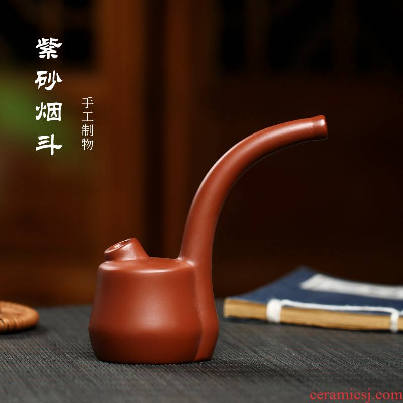Yixing purple sand creative pipe is work to filter the water cycle yanju accessories small tea pet furnishing articles sent elders presents a cigarette holder