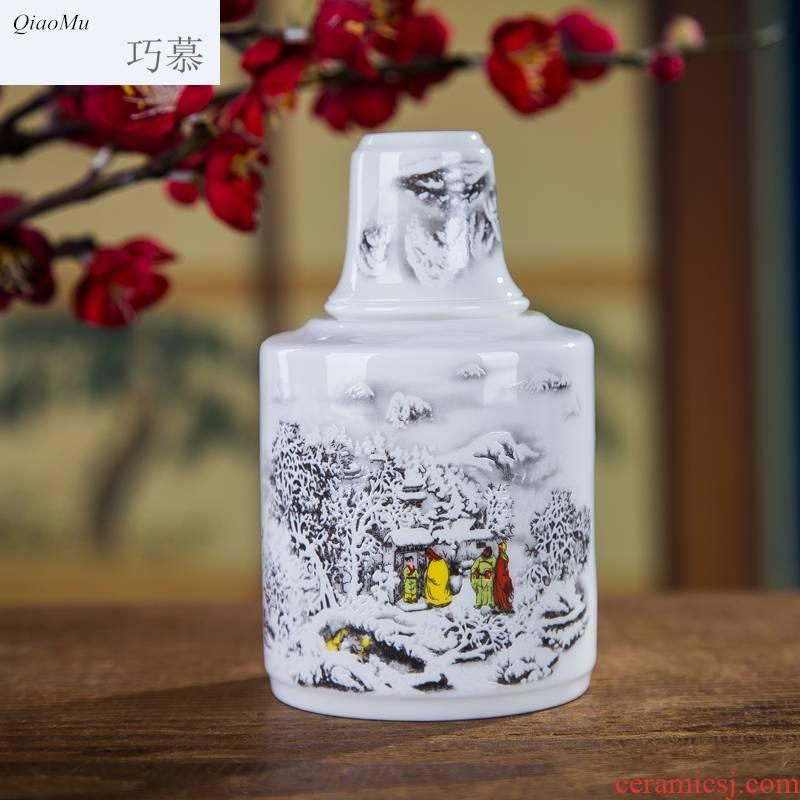 Qiao mu thin fetal ipads porcelain two temperature wine pot jingdezhen ceramic wine suits for wine warm hot hot liquor package mail