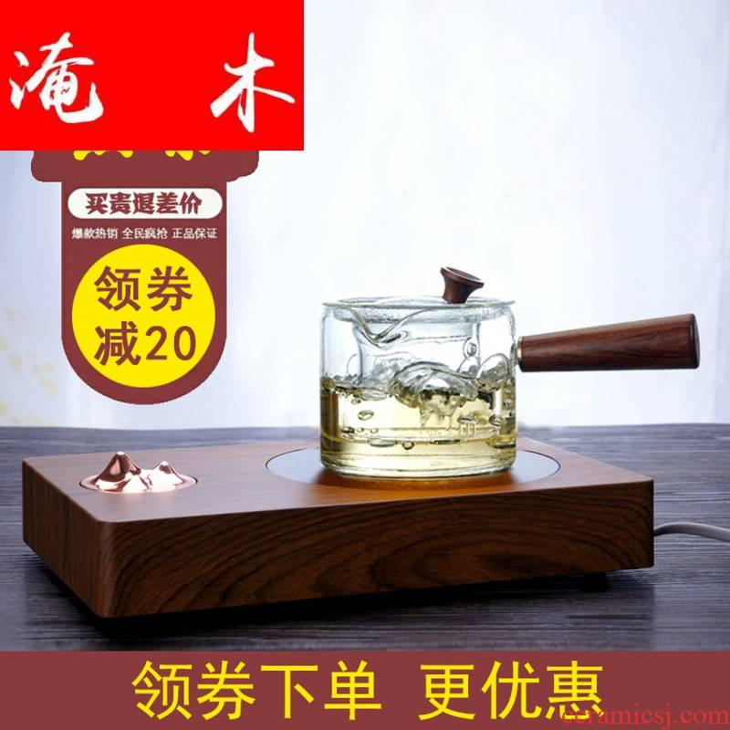 Submerged wood new electric TaoLu electric furnace iron pot of tea tea stove minimalist view mountain silver pot of special electric furnace heat vessels