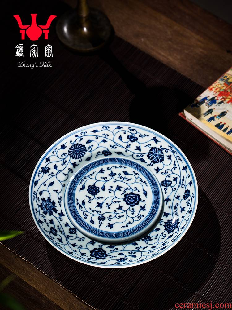Clock home bearing jingdezhen porcelain up pot maintain bound branch pattern pot bearing do make a pot of bearing plate of water are it