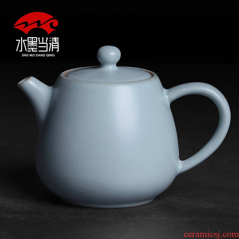Your up ceramic kung fu tea pot single pot of belt filter household use manual open piece of ice to crack glaze small Chinese tea