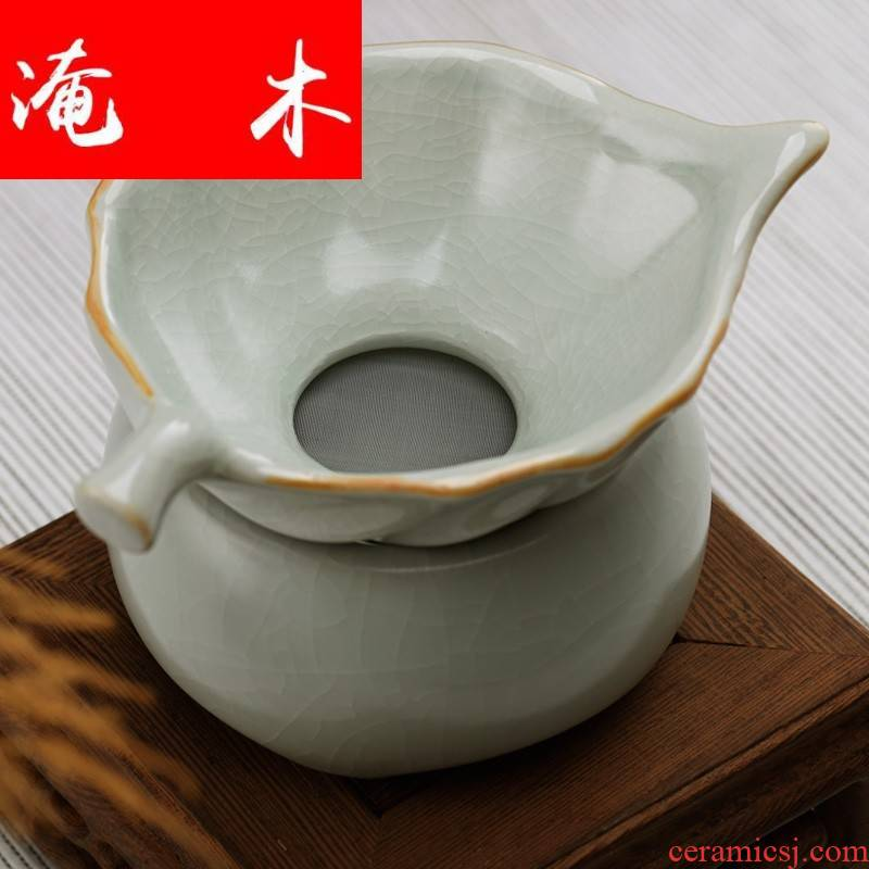 Flooded your up wood tea set) group suit) tea leaves your up open piece of household ceramic teapot