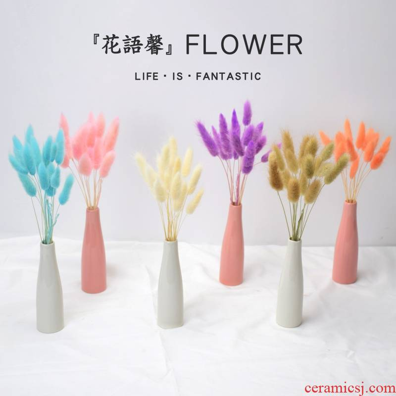 To embellish the Daisy flower bouquet little bunch of mini rose decorative furnishing articles Nordic ceramic vase really spend the wind