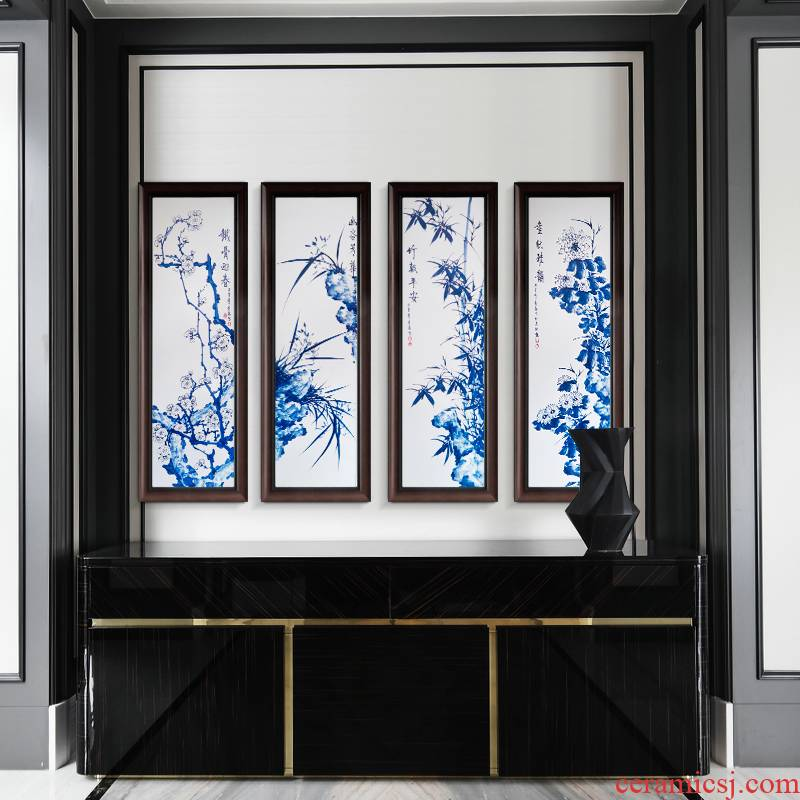 Porcelain plate painting jingdezhen ceramic corridor of new Chinese style adornment by patterns of sitting room sofa background wall to hang a picture