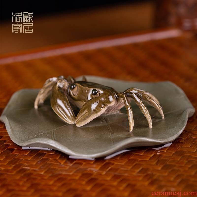 Pet, tea tea to keep pure manual water discoloration tea small place, a mini purple sand tea play a crab move