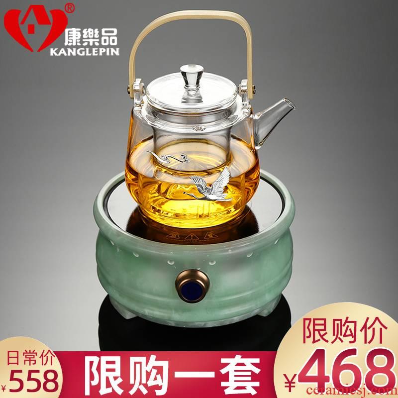 Recreational product office teapot refractory glass filter household cooking pot kettle jade electric TaoLu tea set