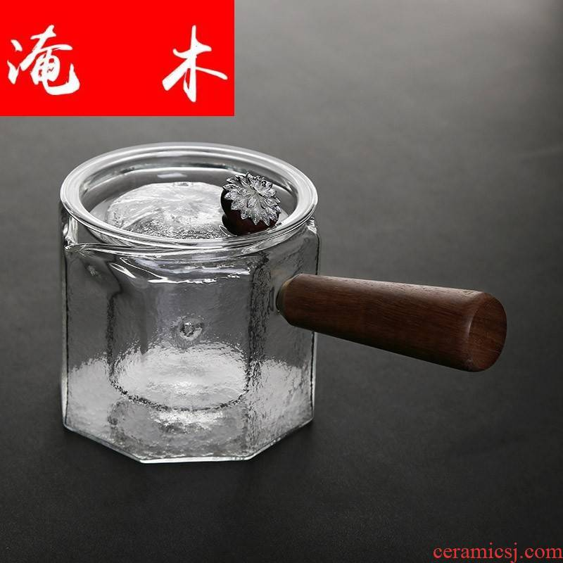Flooded wooden hammer type glass pure silver by kung fu took pot of filter electric TaoLu cooking pot cup of brew
