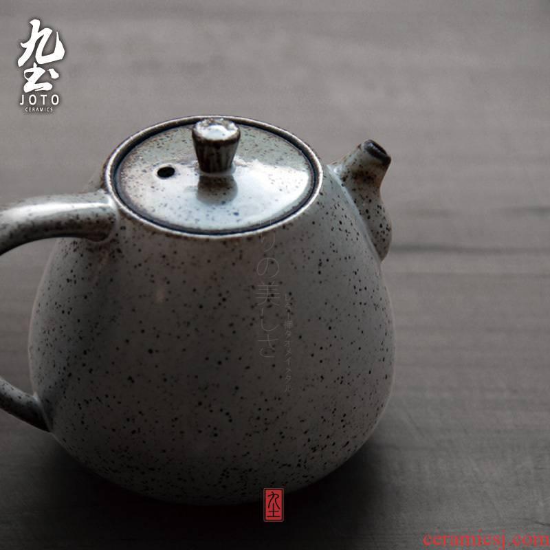 About Nine soil coarse TaoZheng put pot of Japanese tea taking kung fu tea zen tea tea kettle Japanese little teapot ceramic pot