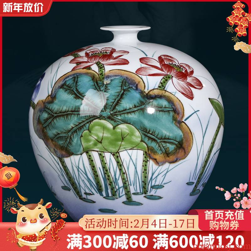 Jingdezhen ceramics famous hand - made vases, Chinese style living room home rich ancient frame wine ark, adornment handicraft furnishing articles