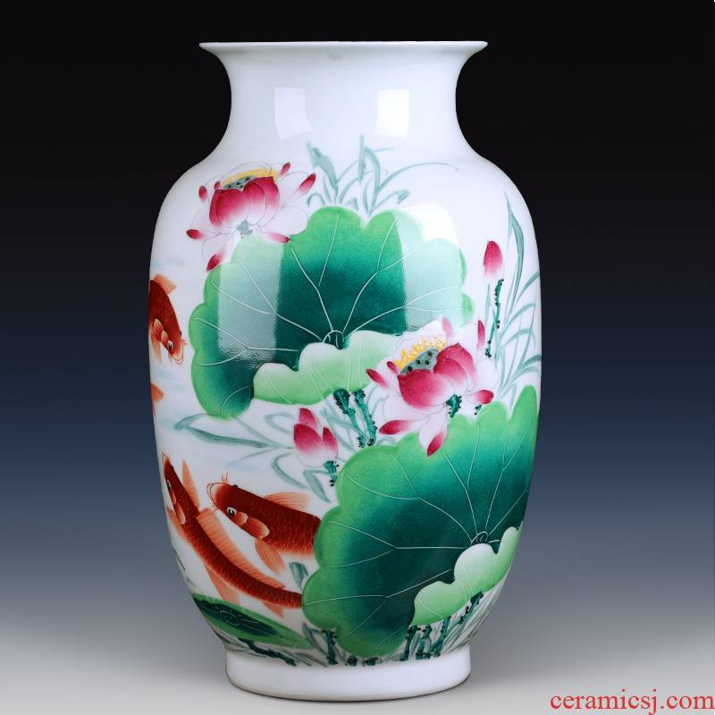 Jingdezhen ceramics hand - made vases furnishing articles for years for porcelain decoration decoration fashion rich ancient frame sitting room