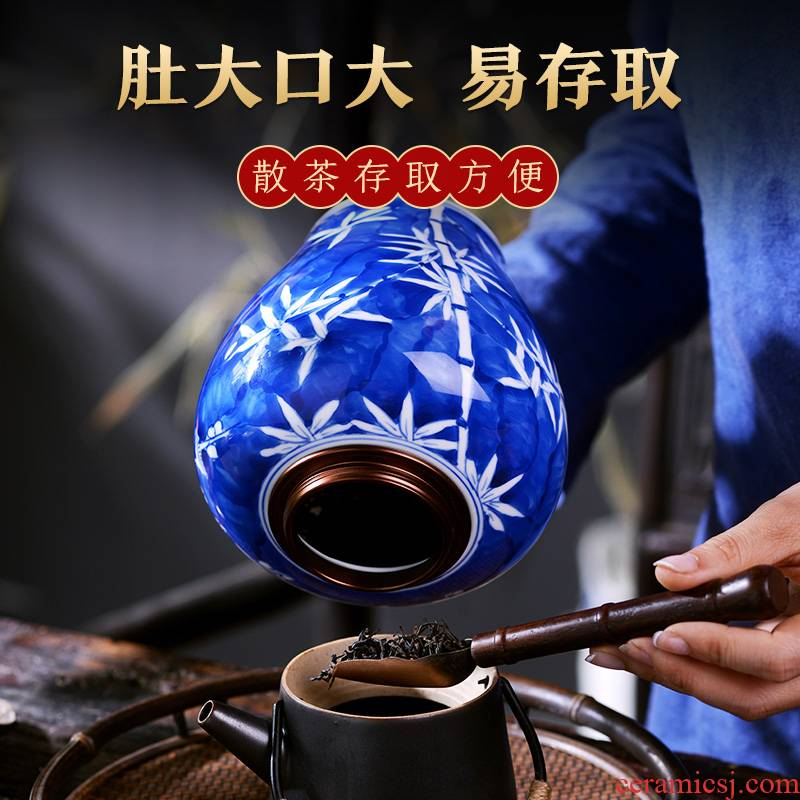Jingdezhen ceramic tea pot hand - made porcelain small Chinese style tea urn with cover sealed container storage POTS