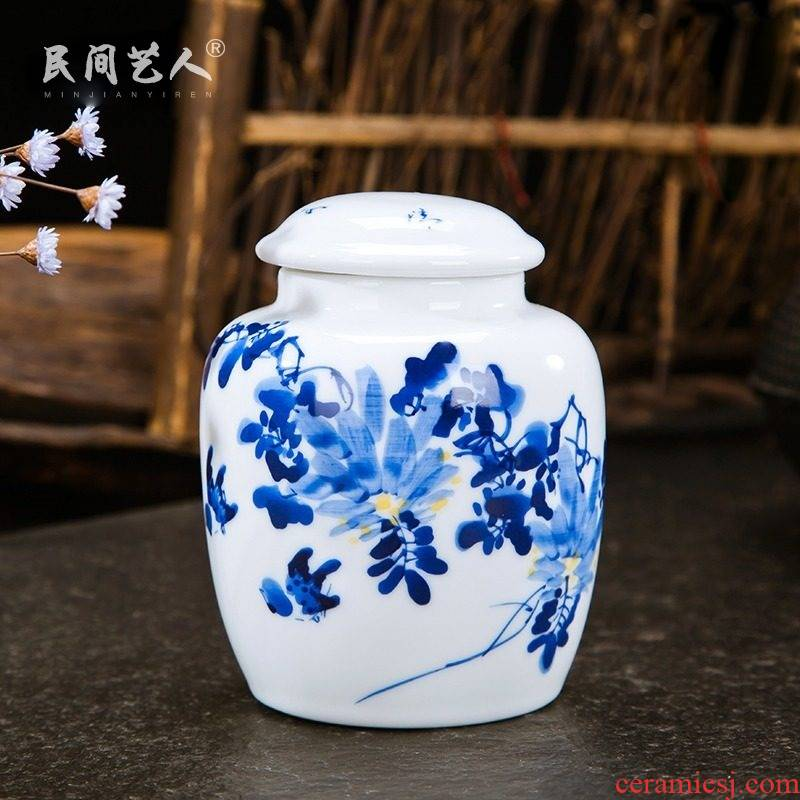 Jingdezhen ceramic tea pot small hand - made kung fu tea tea taking with zero sealed canister to 2 two storage tanks