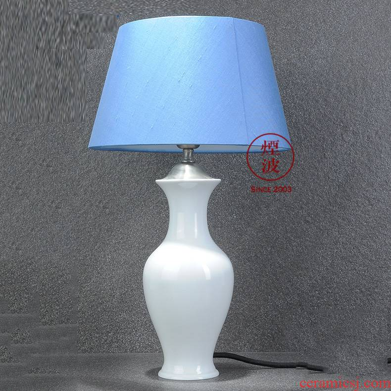 German HOME mason MEISSEN porcelain lamps blue color white vase type desk lamp that occupy the HOME furnishing articles