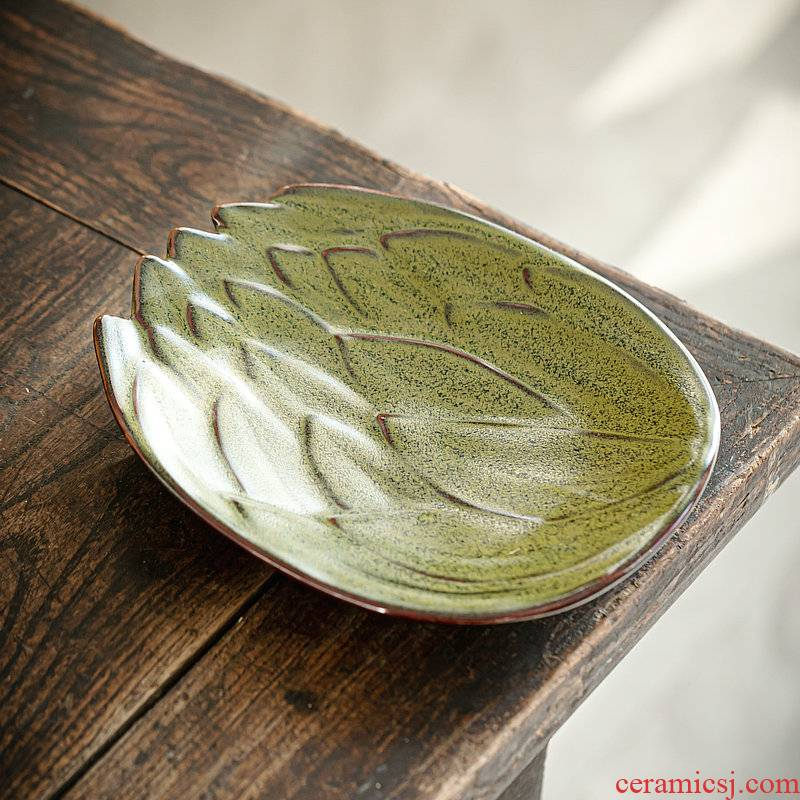 Japanese coarse pottery the face plate of ceramic plates home sitting room feel of fruit snacks restoring ancient ways household cake plate plate plate