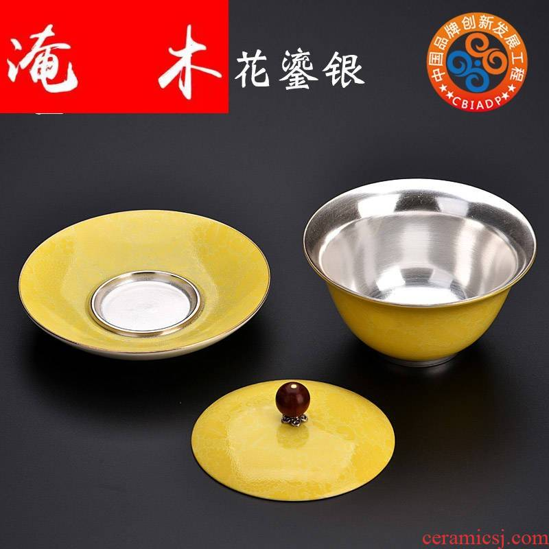 Submerged wood gode grilled ceramic flower coppering. As silver tureen large female family tea ware bowl kung fu tea set