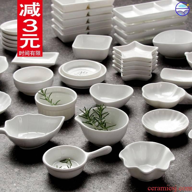 Flavour dishes creative express little seasoning disc ceramic multi - purpose sauce soy sauce dish dish dip vinegar dish hutch