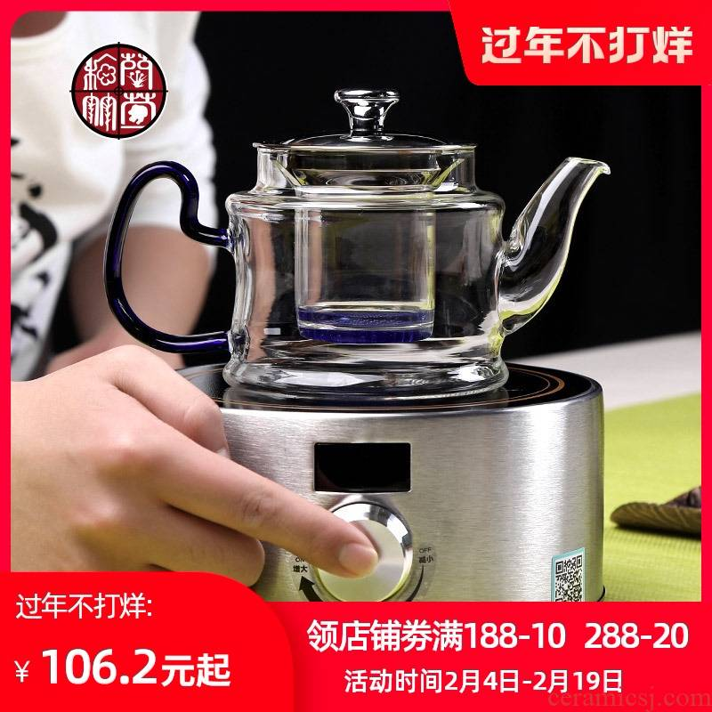 Boiling tea ware glass teapot steam pot of Boiling water tea pot, stainless steel electric TaoLu thickening cooking pot
