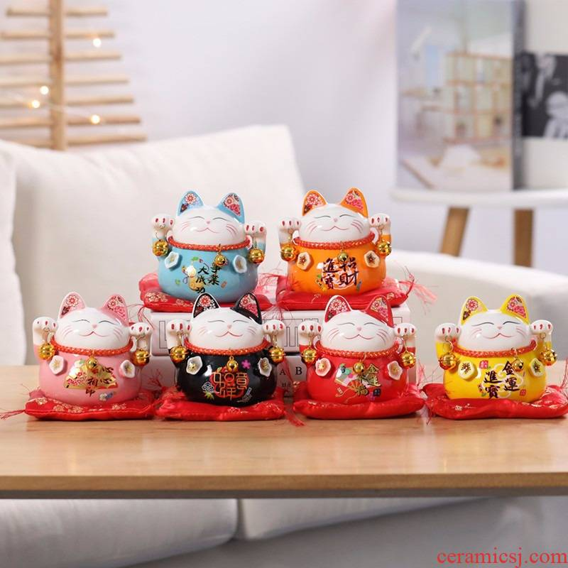 The Cat the opened ceramic saving ceramic Cat household act the role ofing is tasted furnishing articles ceramic ceramic Cat sitting room