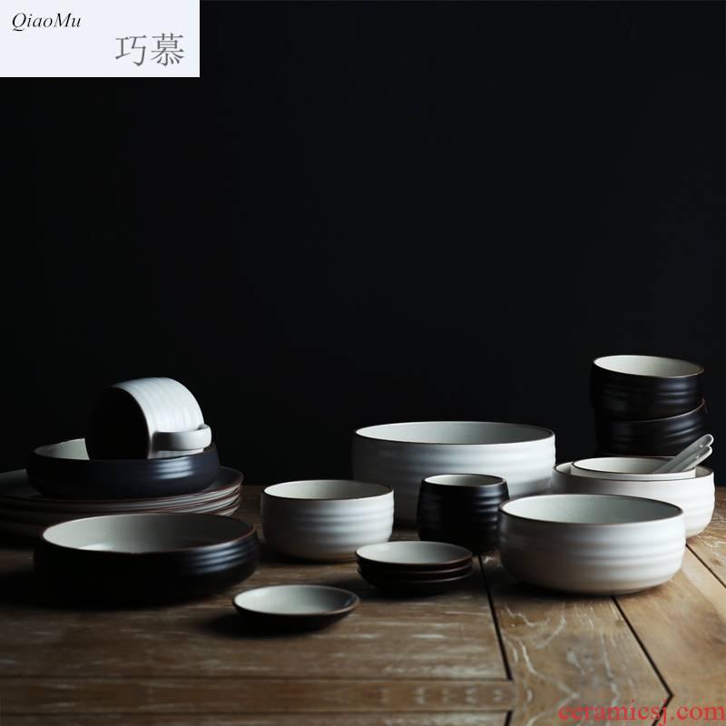 Qiao mu ideas ceramic bowl domestic large fruit salad bowl such as bowl ou bowl bowl dessert bowls