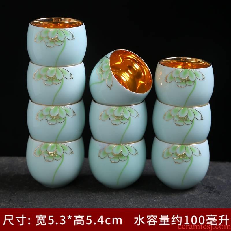 Jingdezhen porcelain teacup ceramic sample tea cup kung fu tea set ceramic masters cup personal a cup of tea light cup