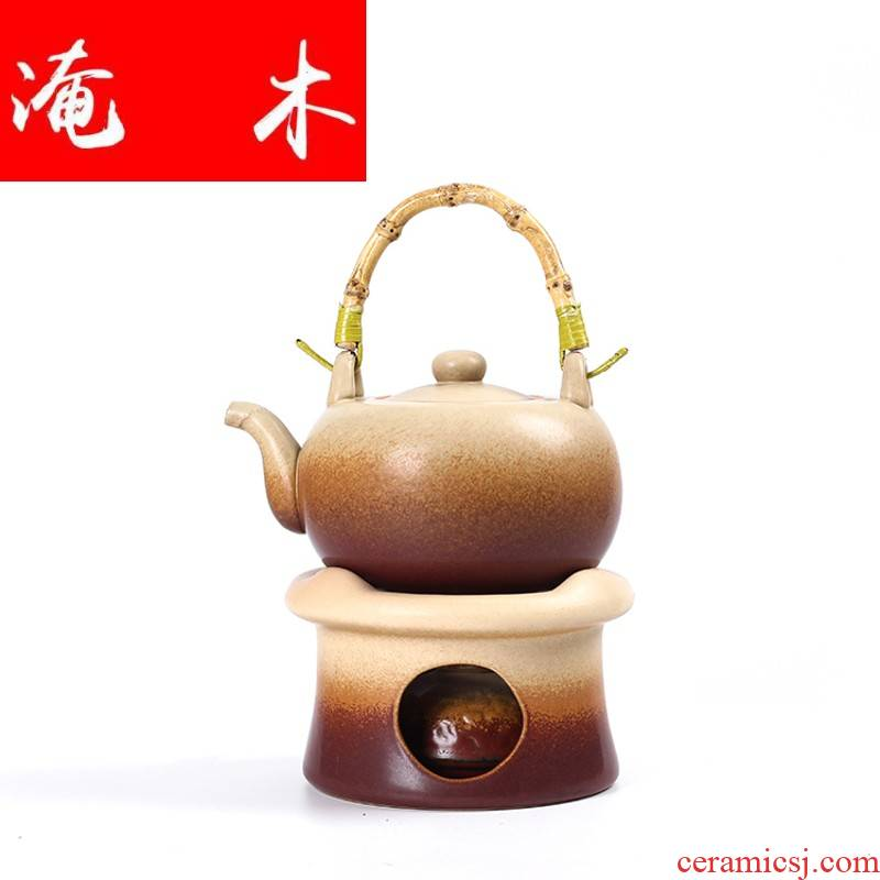 Submerged wood seconds alcohol furnace boiling tea stove cooking pot of tea of household ceramic teapot alcohol lamp electric kettle furnace