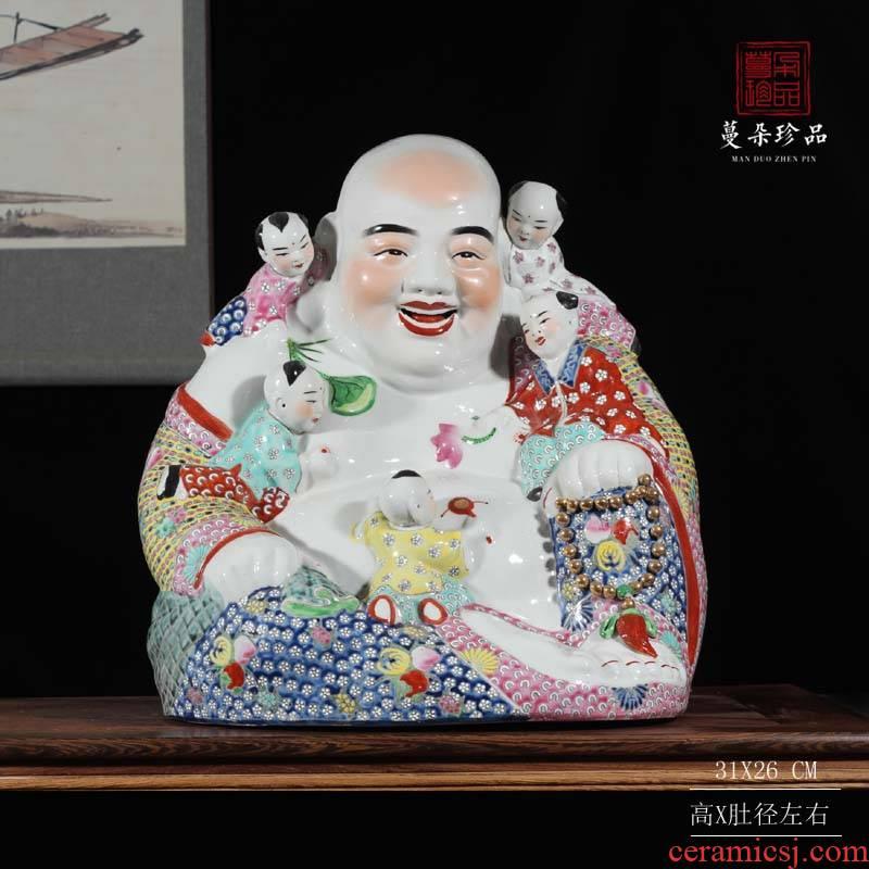 Jingdezhen five sub - ka character decoration ha ha ha ha arhat ocean 's five sub - ka auspicious furnishing articles abital