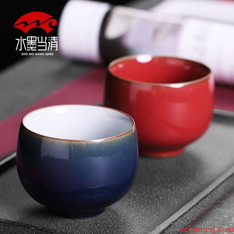 Large cups cup single master cup single cup home checking ceramic sample tea cup single kung fu tea service men and women