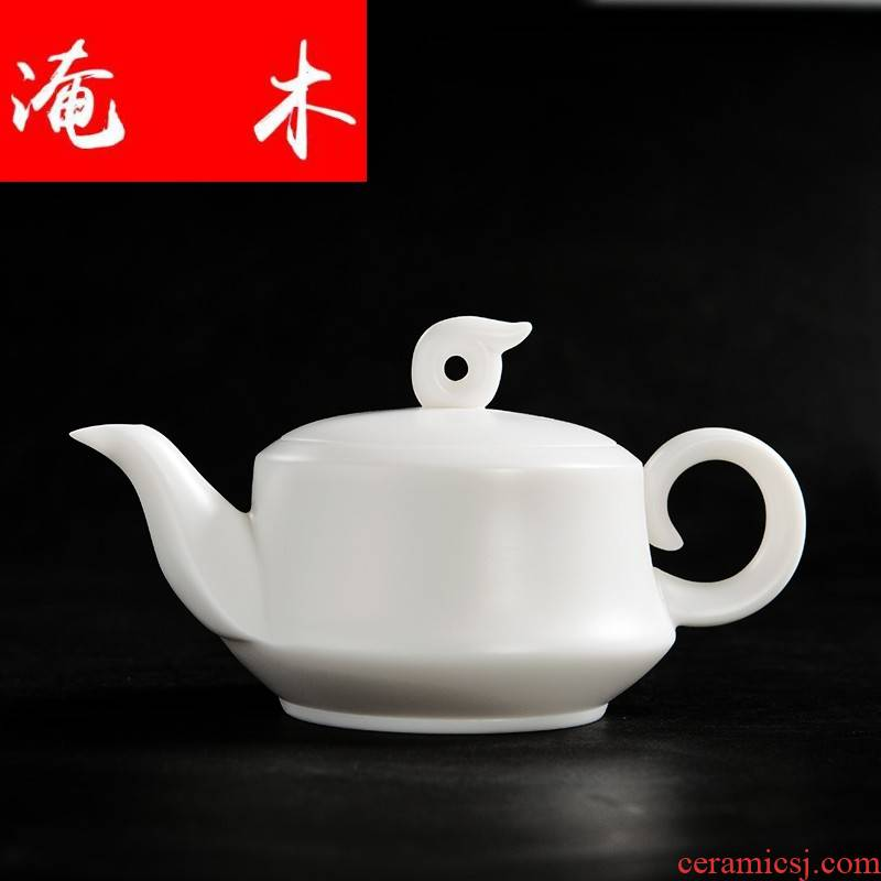 Submerged wood xiangyun make tea pot of pure white porcelain craft ceramic teapot large jade porcelain tea filter household utensils
