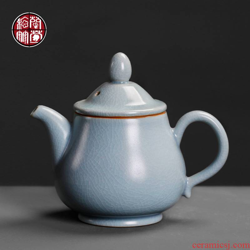 Azure your up large ceramic teapot household small single pot open restoring ancient ways but a Chinese tea, kungfu tea set