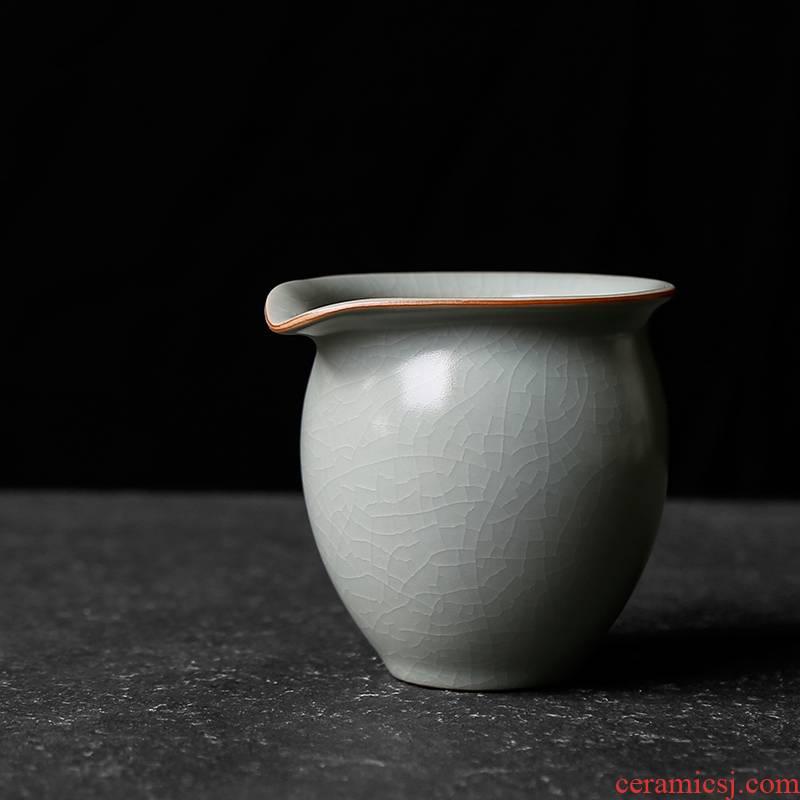 Your up kung fu tea set individual fair keller can keep open piece of male ceramic tea tea ware of days sea blue ice crack glaze