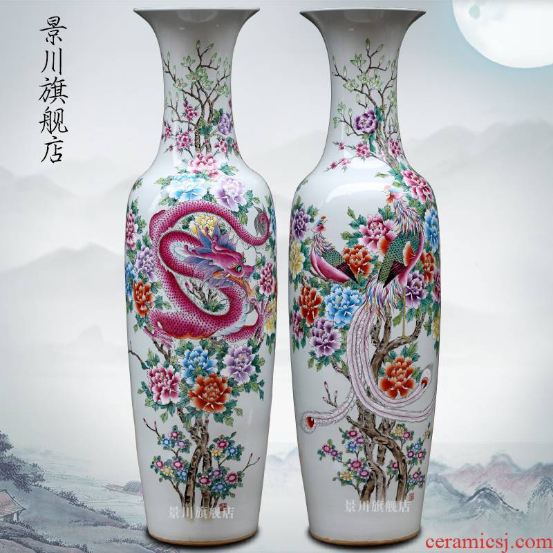 Hand - made in extremely good fortune jingdezhen ceramic big vase home sitting room ground flower arranging furnishing articles of modern Chinese style act the role ofing is tasted