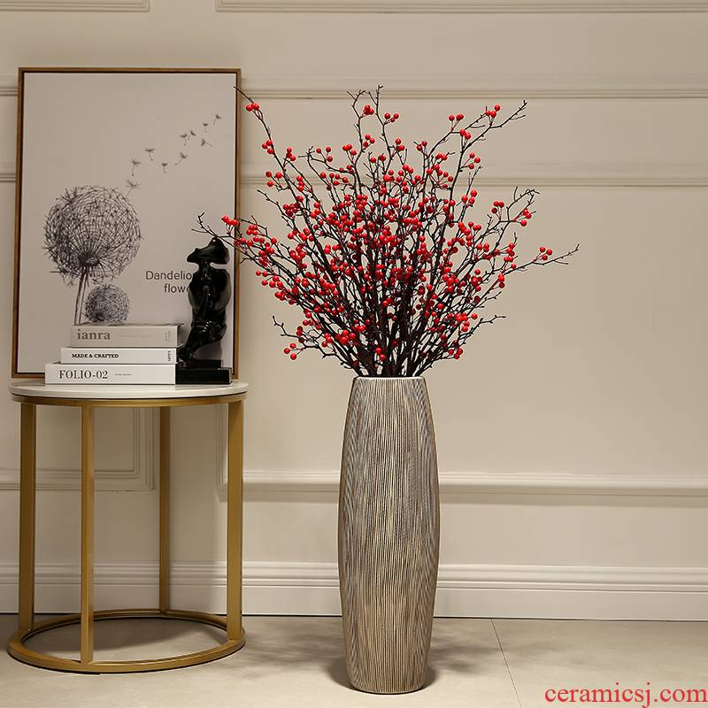 I and contracted creative living room floor vase household simulation dried flowers flower arrangement ceramics decoration company in furnishing articles