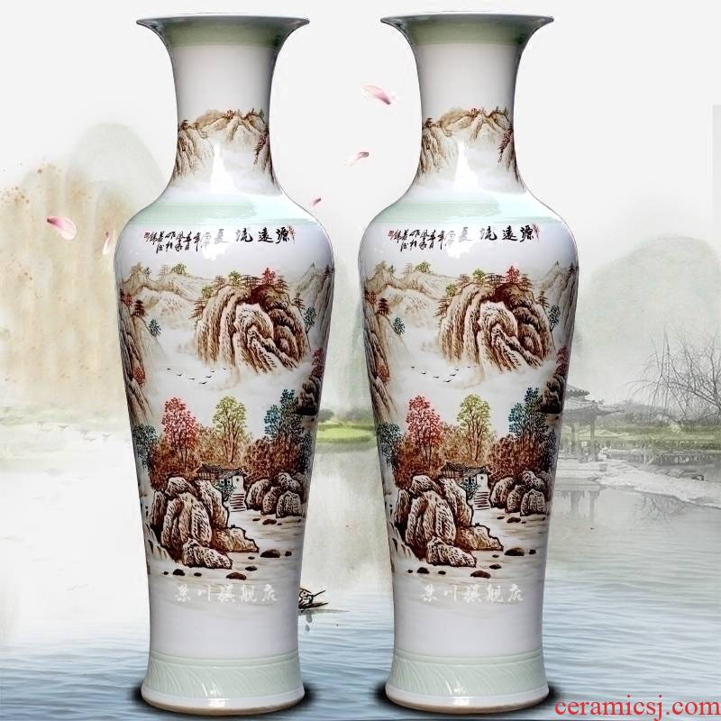 Has a long history in the hand - made porcelain of jingdezhen ceramic sitting room of large vase household of Chinese style study place adorn article