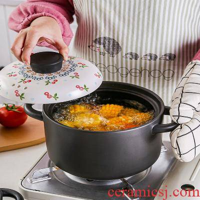Pot soup gas casserole soup Pot size capacity of preserve one 's health of household Pot Japanese casserole stew ceramic high - temperature flame