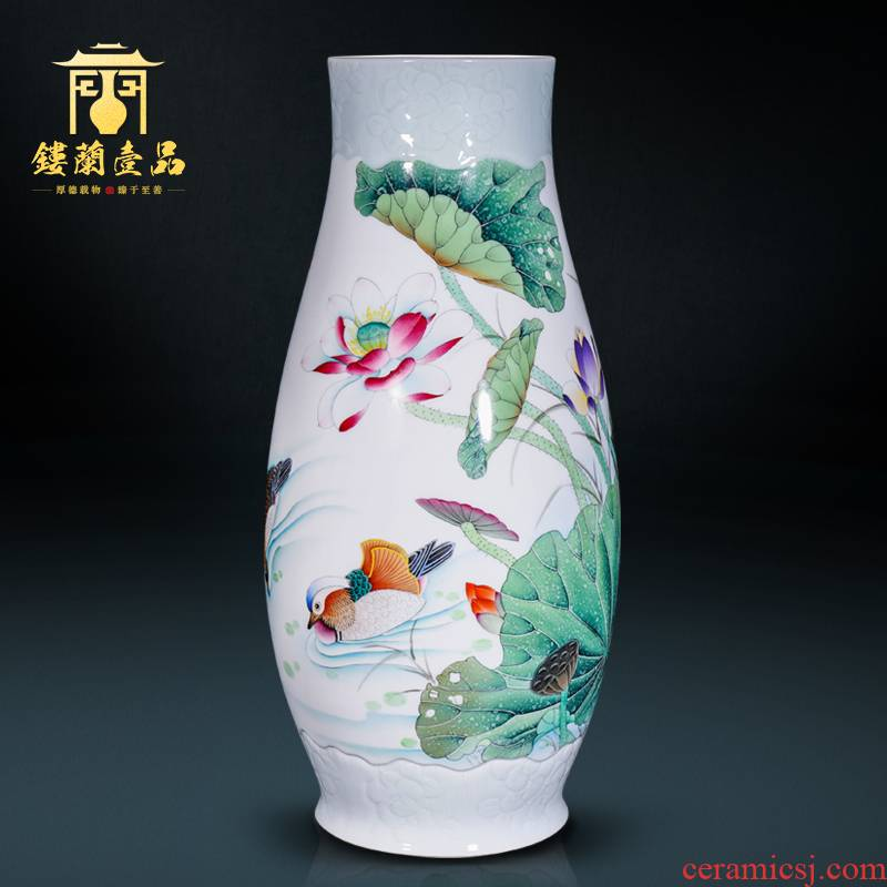 The Master of jingdezhen ceramic hand - made all large Chinese style household decoration as vases, flower arranging decorative furnishing articles