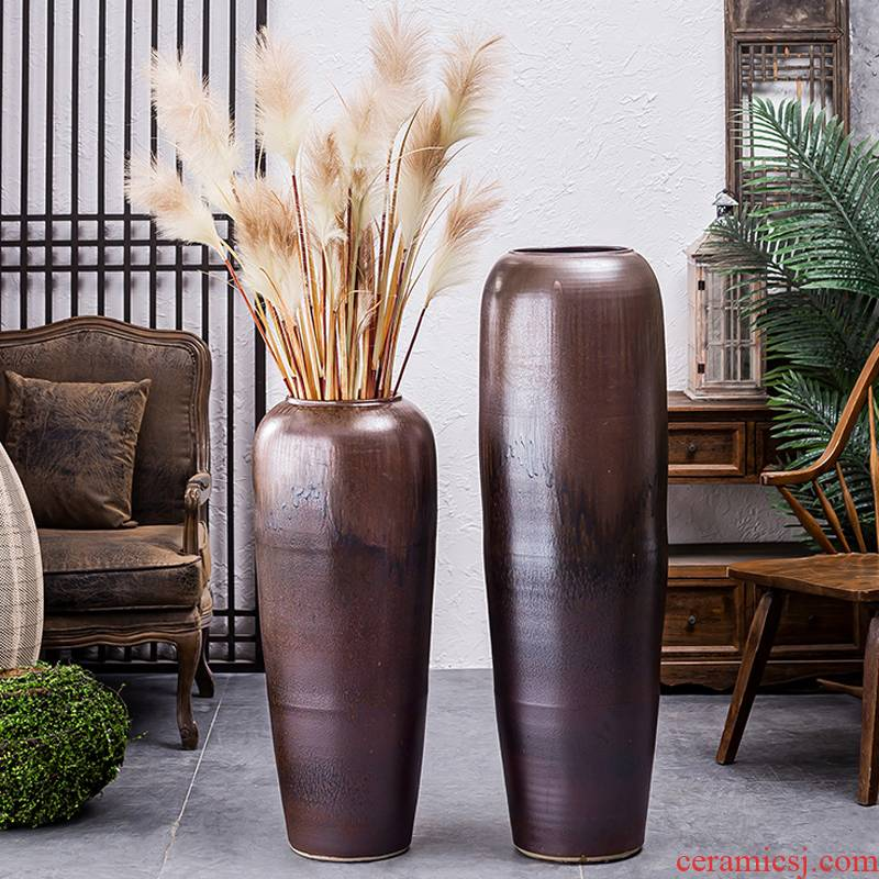 Large vases, jingdezhen ceramic furnishing articles sitting room the hotel Chinese flower arranging dried flowers, porcelain clay restoring ancient ways