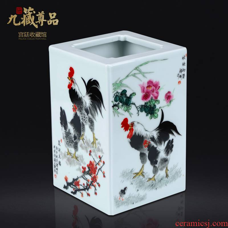 The Master of jingdezhen ceramics hand - made pastel rooster figure with Chinese style living room porch rich ancient frame decorative furnishing articles