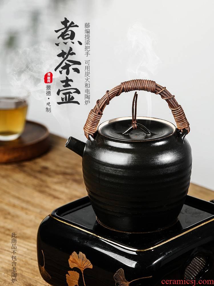 Jingdezhen in true up kung fu tea pot pot of pure checking ceramic teapot cooked Chinese teapot girder pot of tea