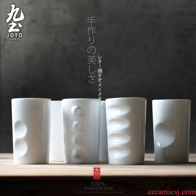 About Nine soil creative ceramic cup couples to office Japanese checking mugs contracted cups milk cup coffee cup