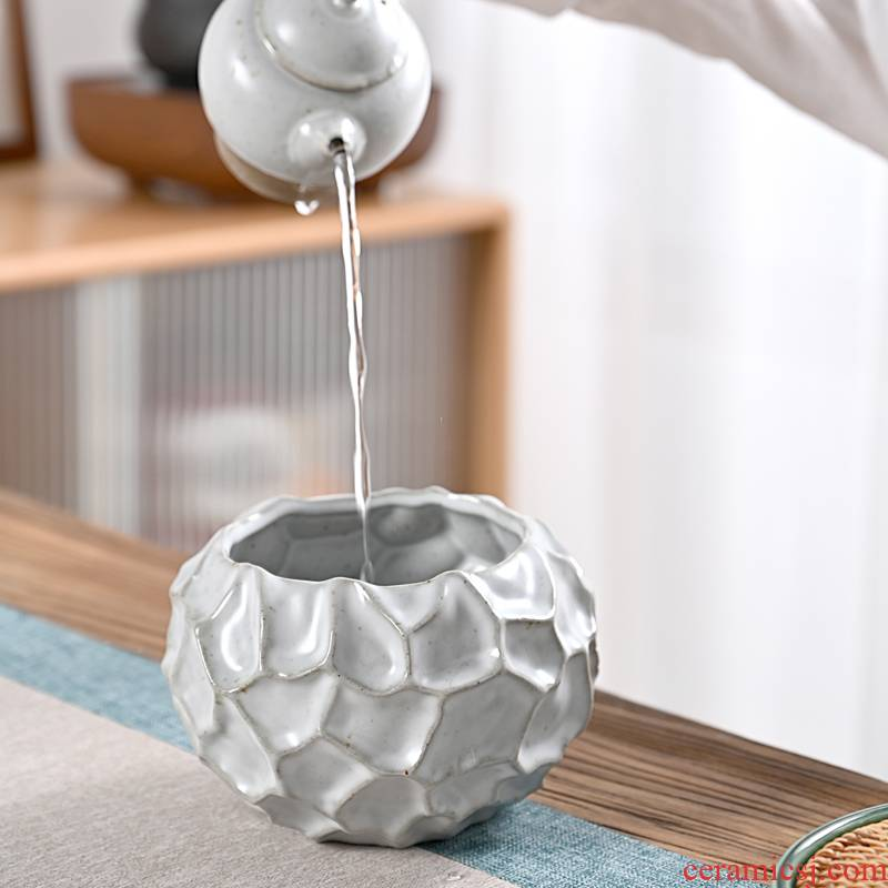 Hui shi creative household size tea wash to building ceramic kung fu tea tea accessories cup water wash to wash water jar