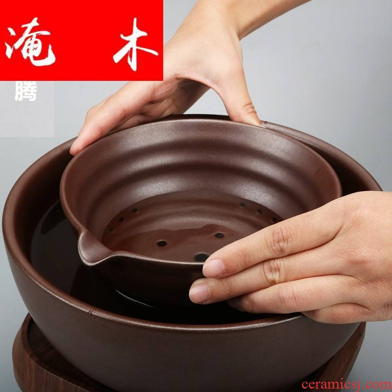 Submerged wood large ceramic boiling tea machine electricity TaoLu suit tea stove cooked this teapot teacup tea, black tea