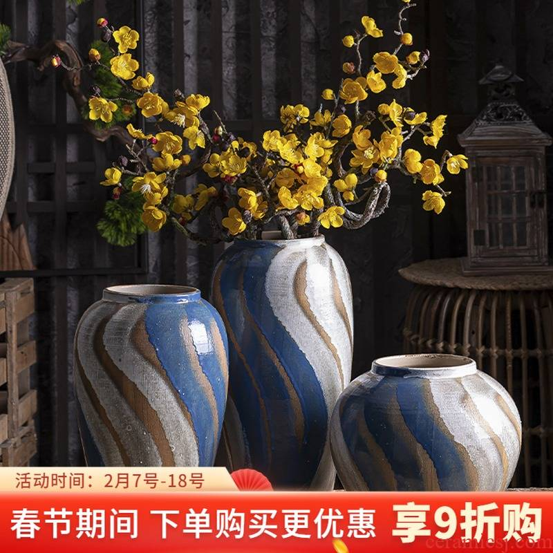 American ceramic floret bottle household act the role ofing is tasted wine shelf decoration flower arranging dried flowers contracted sitting room adornment is placed