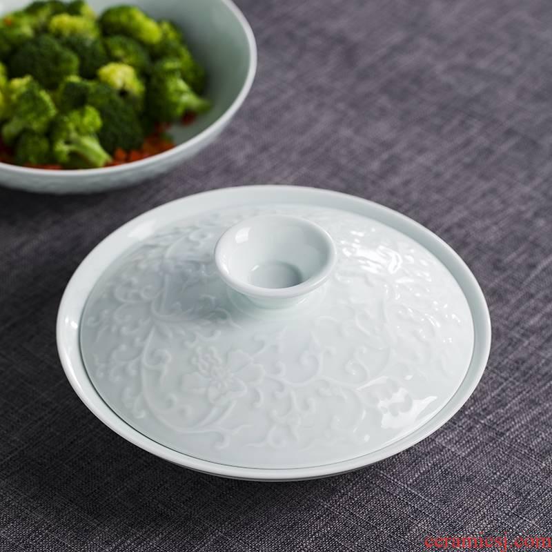 Jingdezhen ceramic film blue glaze combiner household ceramic bowl tableware tableware suit dishes