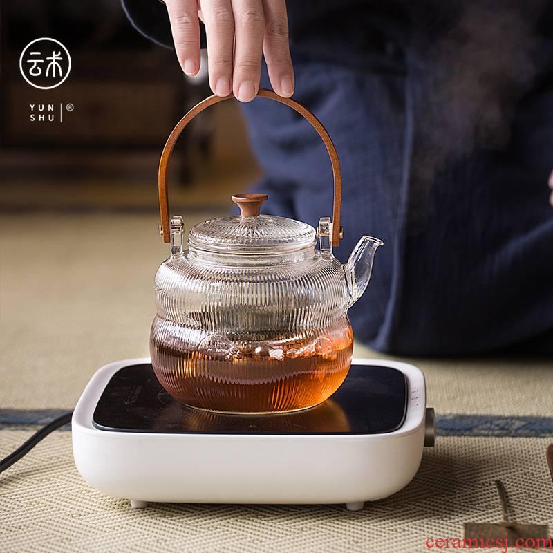 Cloud (Japanese heat - resistant glass teapot cooking pot kettle household cooking pot office electrical TaoLu tea ware