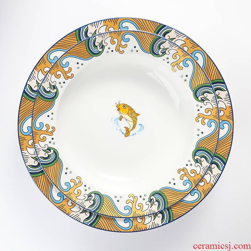 "Mt. Hunan ceramic bowl of pickled fish boiled fish soup basin large ltd. hotel MAO ""flourishing crawfish sichuan cuisine"