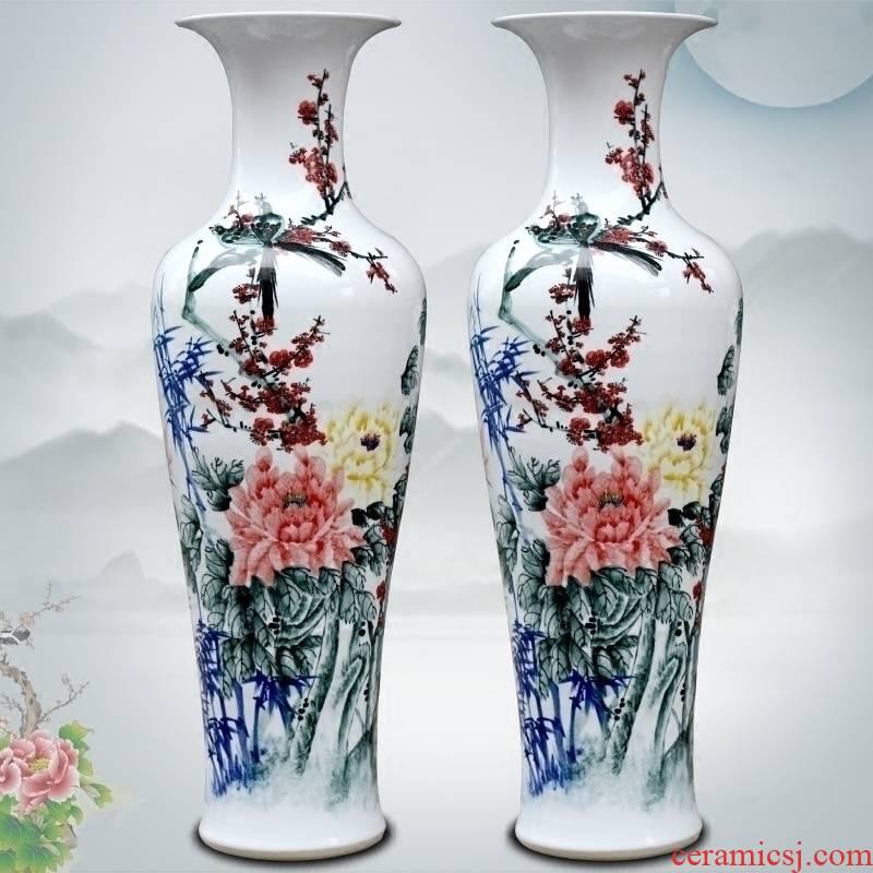 Jingdezhen ceramics hand - made flowers flower arrangement sitting room of large vase furnishing articles household craft ornaments
