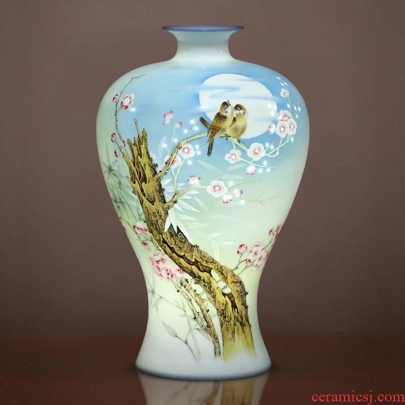 Jingdezhen porcelain ceramic hand - made vases, exquisite knife clay bottle home furnishing articles of Chinese style of the sitting room porch decoration