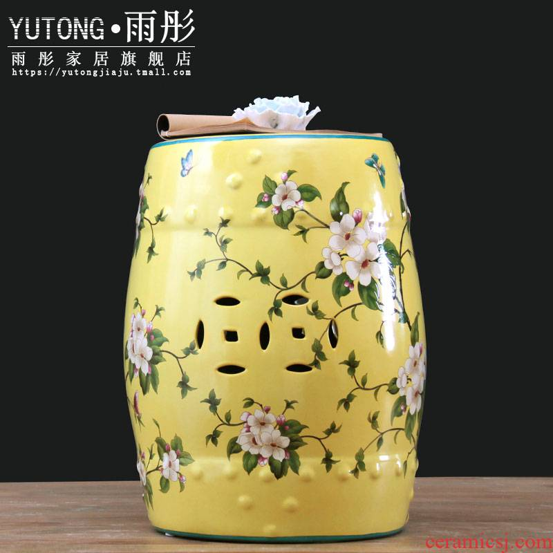New Chinese style European rural jingdezhen temperature hand - made ceramic who drum who dressing change who drum pier ruffles what shoe