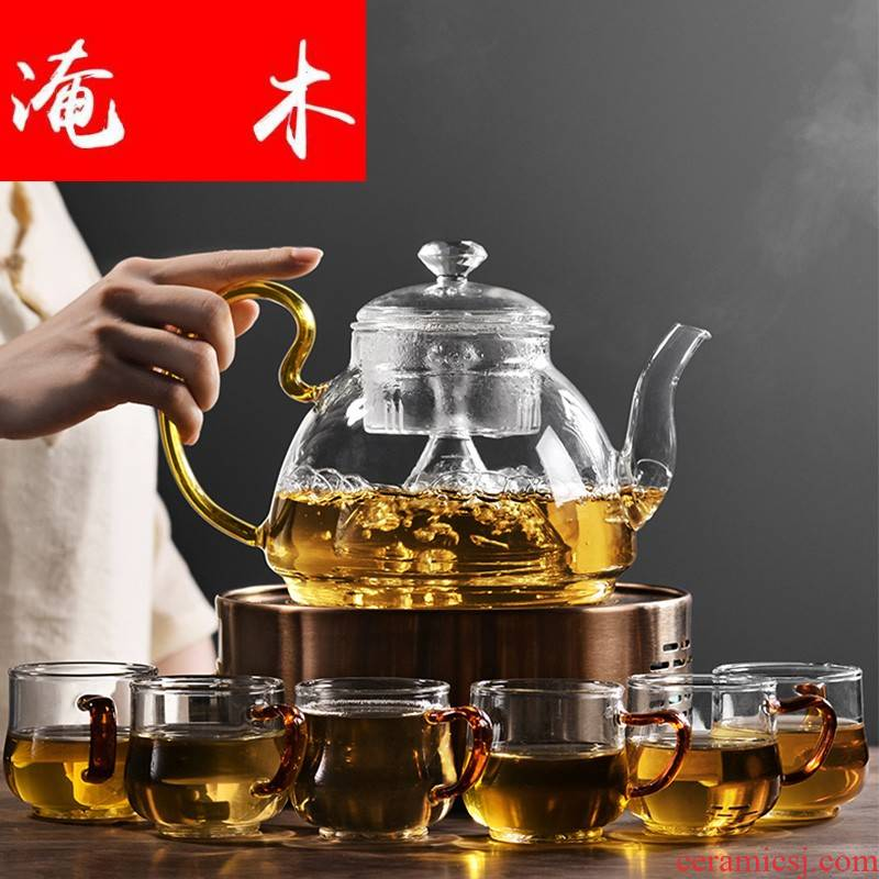 Submerged wood to heat the steam boiling tea ware glass teapot tea steamer electric TaoLu automatic black tea, white tea kettle