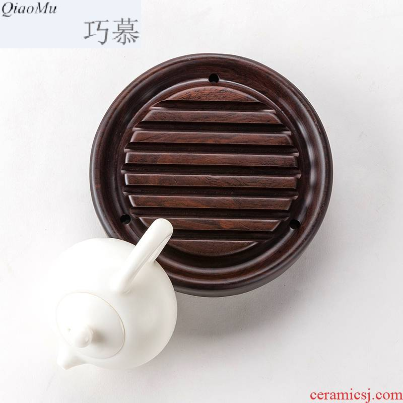 Longed for a whole piece of solid wood opportunely pot bearing pot holder, pot pad ebony teahouse kung fu tea accessories base pot holder